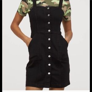 H&M Overall Dress with front closure